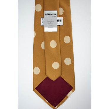 Tie Orange Pumpkin Large Polka Dot Ivory Sanssouci - 100% Pure Silk