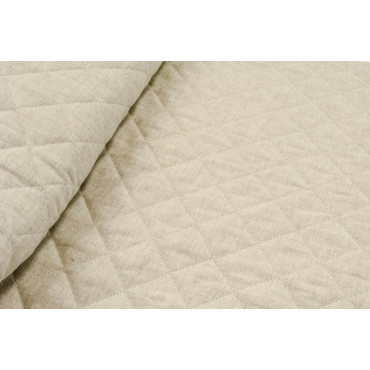 Quilted bedspread Single-White Natural Linen Cotton 180x270 - padding to enhance 1 Square