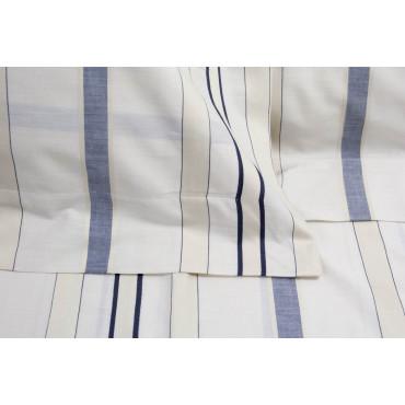 Hojas de cama de matrimonio King size Marfil Rayas Azul de la Moña 270x290 en el marco del Plan 7401