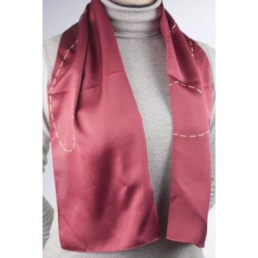 Gattinoni Piccola Sciarpa Seta Rossa - Elegante - 25x120