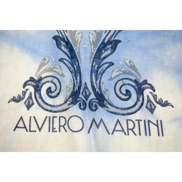 Alviero Martini Prima Classe Piccola Sciarpa Celeste Sfumata