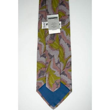 Cravatta Camouflage Verde Rosa Grigio - 100% Pura Seta - Made in Italy