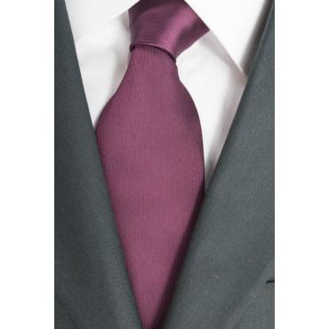 Corbata color Burdeos del Regimiento de Naranja - 100% Pura Seda - Made in Italy