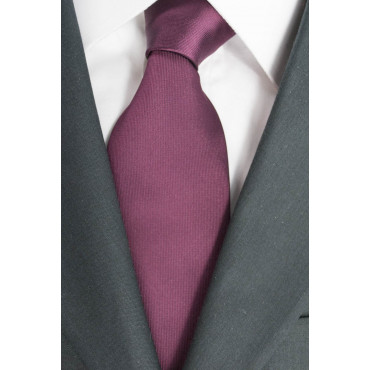 Tie Burgundy Regimental Orange - 100% Pure Silk - Made in Italy