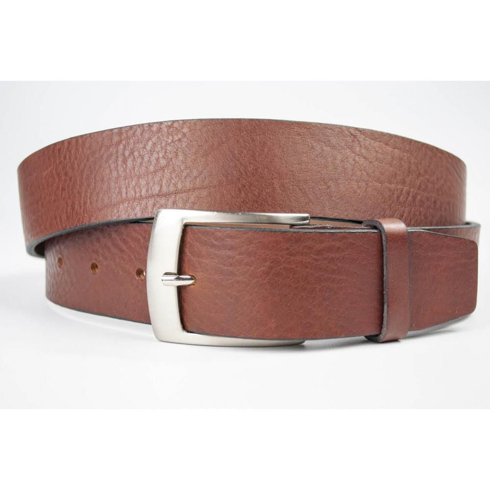 Cintura uomo Marrone in pelle lunga 125 cm  taglie forti