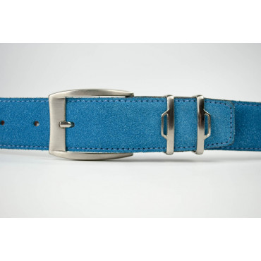 Cintura Turchese in camoscio lunga 130 cm - taglie forti