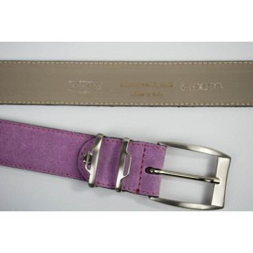 Cintura Rosa in camoscio lunga 120 cm - taglie forti