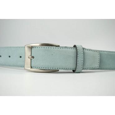 Cintura Celeste in camoscio lunga 125 cm - taglie forti