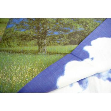 Parure Letto Matrimoniale 2Piazze stampa fotografica natura - 2 federe, 1 lenzuolo da sopra