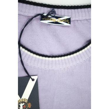JOHNNY LAMBS Pullover Estivo Girocollo Tennis L 50 Viola Lillà  - Cotone