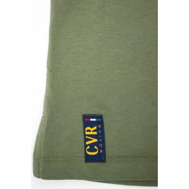 Coveri Polo Uomo L 50 Verde Militare tinta unita - Mezze Maniche - Jersey