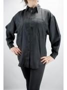 Shirt Of Pure Silk Stonewash Black Tintaunita - M - Long Sleeve