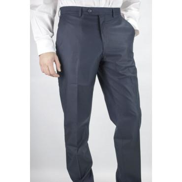 Pantaloni Uomo Classico taglia 46 Blu Scuro Raso Cotone - PE
