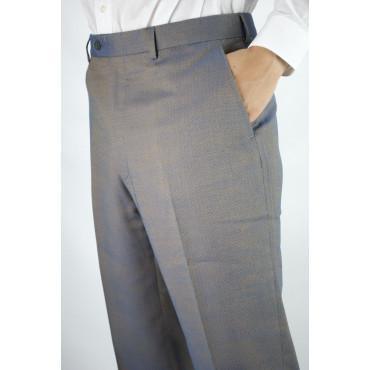 Pantaloni Uomo Classico taglia 50 Cangiante Blu Giallo - Tasche Laterali - Frescolana 4Stagioni