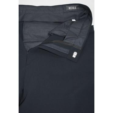 Pantaloni Uomo alla Carrettiera taglia 52 Blu Scuro - Tasche Orizzontali - 4Stagioni