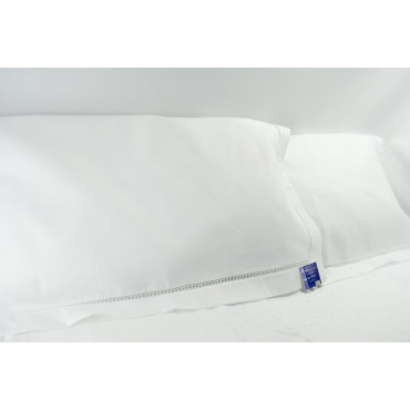 Pair Pillowcases White Giornino 3 ruffles