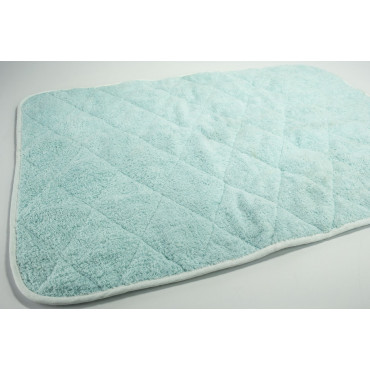 Aquamarine Green Sponge Bath Mat - 55x75