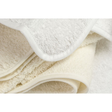 White or Ivory Towels of all sizes: Face and Bidet, Regular and Giant Shower Towel