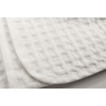 Honeycomb Face Towels + Bidet White Solid Color - Large cell
