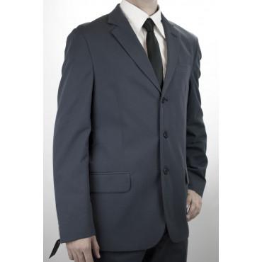Abito Uomo Slim 50 Blu Chiaro Cotone Righine 3Bottoni 30219 PE
