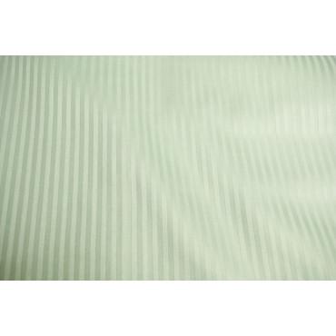 Copripiumino 1Piazza e Mezza Raso Cotone Righe Verde Salvia Chiaro 220x250 senza federe 7060