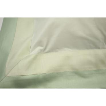 Lenzuola 1Piazza e1/2 Percalle 2Strisce Verde 220x290 Sotto piano 7712