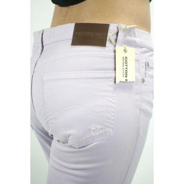 COTTON BELT Pantaloni Donna Viola Lillà 44-46 31 5Tasche Puro Cotone