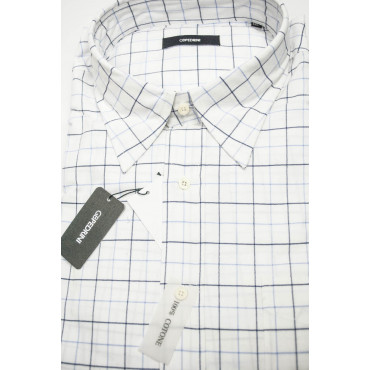 Man shirt Classic XXL 46-47 White Panels of Oxford blue Soft Collar