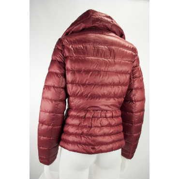 Jacket Down Jacket Lightweight Hood Women's 44 M Red Lightweight VLab