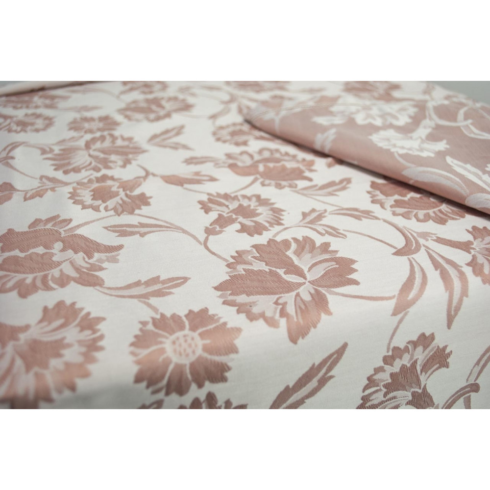Rectangular Tablecloth x12 270x180 Flanders Carnation Doubleface Pink 8035
