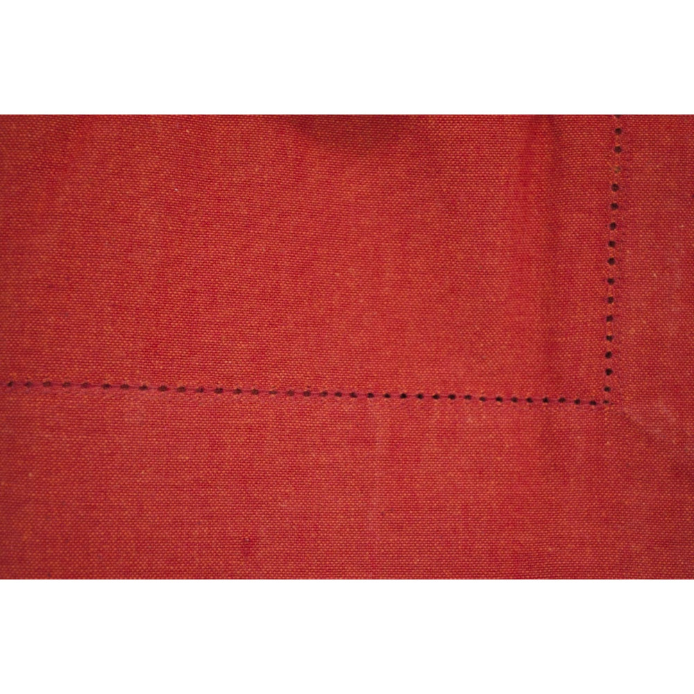Rectangular Tablecloth x6 Red 140x180 ref. Hemstitch without napkins