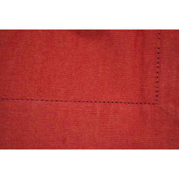 Rectangular Tablecloth x8 Red 140x240 ref. Hemstitch without napkins