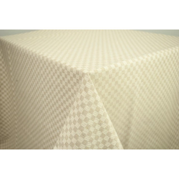 Rectangular Tablecloth x6 Natural Beige Tuscan Squares 140x180 850101