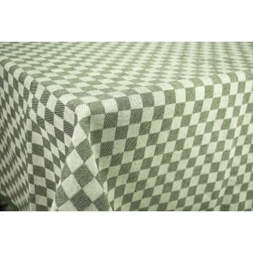 Tovaglia Rettangolare x6 Verde Quadri Toscana 140x180 850102