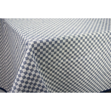 Rectangular Tablecloth x6 Blue Tuscany Squares 140x180 850105