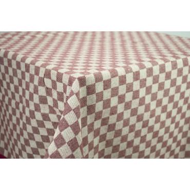 Tovaglia Rettangolare x6 Rosso Quadri Toscana 140x180 850106