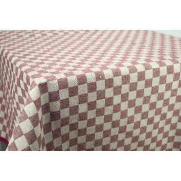 Mantel rectangular x6 cuadros rojos toscanos 140x180 850106
