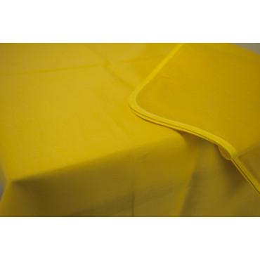 Tovaglia Rettangolare x12 Organza Giallo Girasole 180x270 + 12 tovaglioli  - rif. Fettuccia