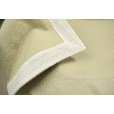 Round tablecloth diam. 230 - Plain Sand - Indhantrene Heavy Satin - For Catering