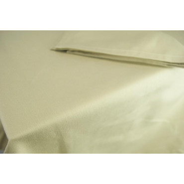 Abbillè Rectangular Tablecloth 370x230 - Solid Sand - Indhantrene Heavy Satin - For Catering