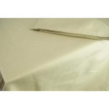 Mantel rectangular Abbillè 370x230 - Arena sólida - Satén pesado Indhantrene - Para catering