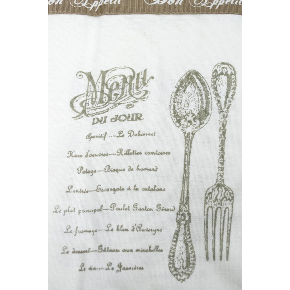 Rectangular Tablecloth x12 Ecrù White Flounce 150x270 - Bon Appetit Shabby Chic