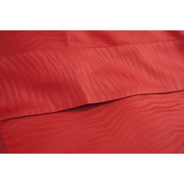 Duvet cover Single Red Zebra Satin Cotton 155x250 without pillowcases 7058