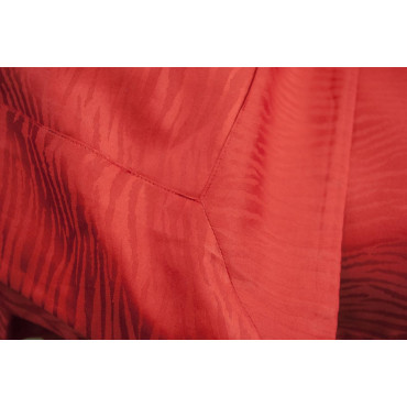 Copripiumino Singolo Rosso Raso Cotone Jaquard Zebra 155x270 +1federa 7005