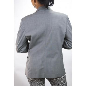 Giacca Blazer Donna taglia 42 - Grigio Medio Spinato Frescolana - No Brand Sample
