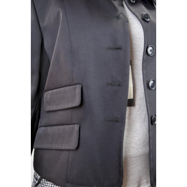 Jacket Short Woman Doppiatasca size 42 - Black Cotton - No Brand Sample