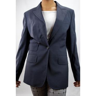 Giacca Blazer Donna Bavero Puntalancia taglia 42 - Blu Frescolana - No Brand Sample