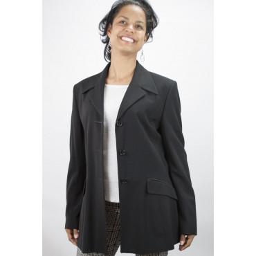 Giacca Blazer Donna Bavero Puntalancia taglia 42 - Nero Frescolana - No Brand Sample