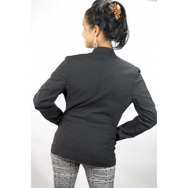Giacca Corta Donna colletto alla Coreana taglia 42 - Nero Frescolana - No Brand Sample