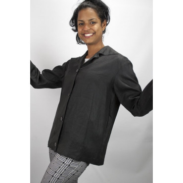 Short jacket Women's Pure Linen size 42 - Black - No Brand Sample